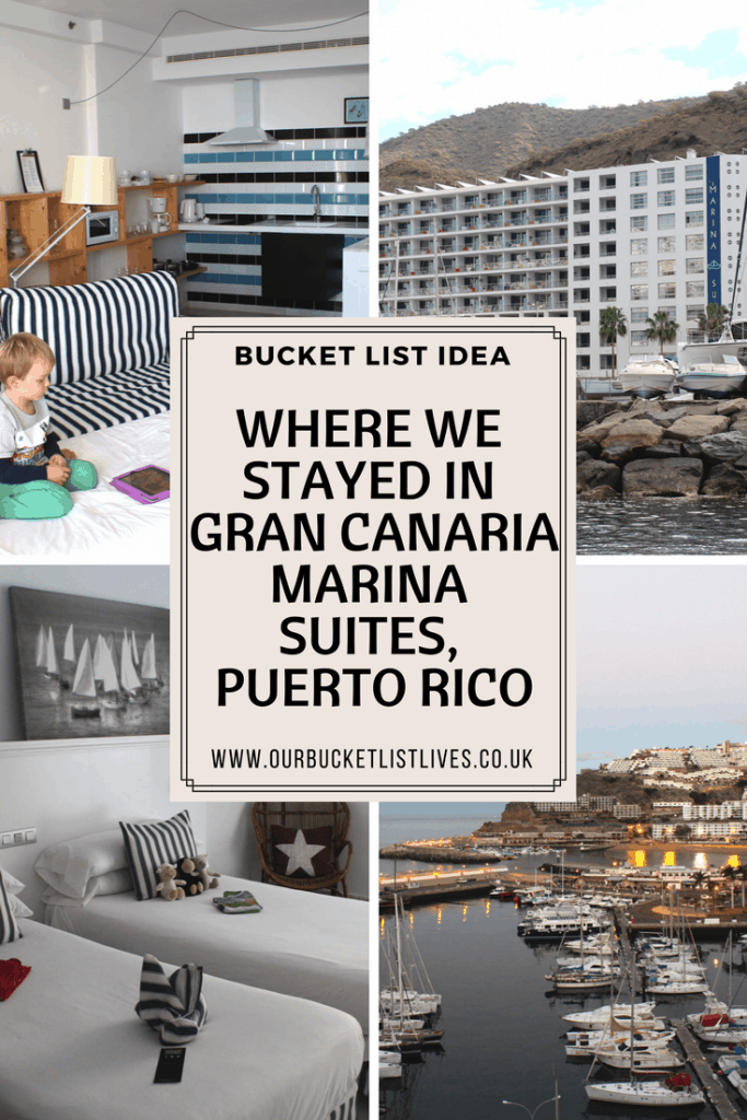 Where we stayed in Gran Canaria - Marina suites, Puerto Rico