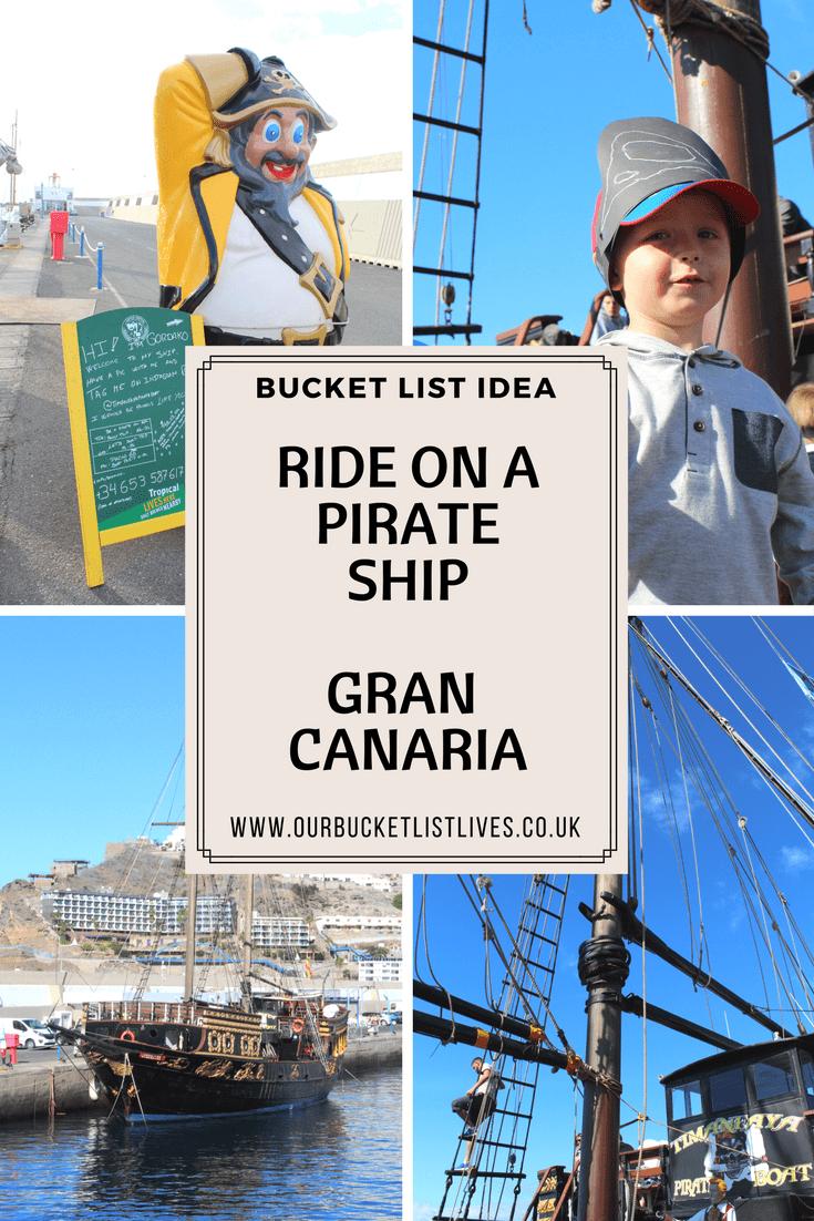 Bucket list idea - Ride on a pirate ship - Gran Canaria