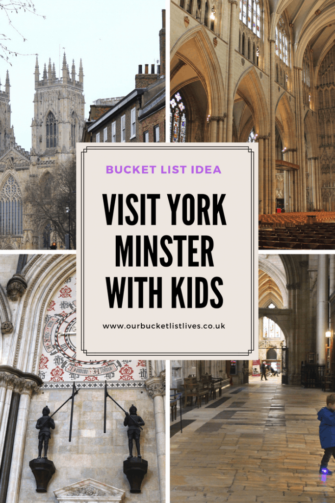 York Minster with kids