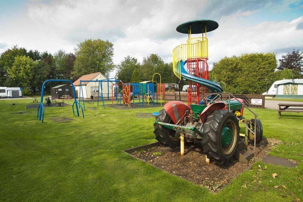 Outdoor play area at Vale of Pickering Caravan Park
