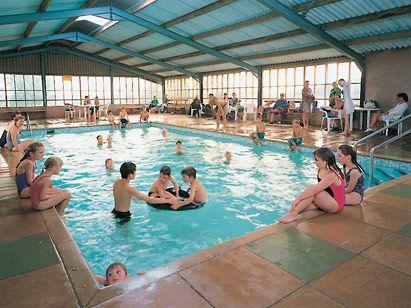Indoor pool at Yeatheridge Farm