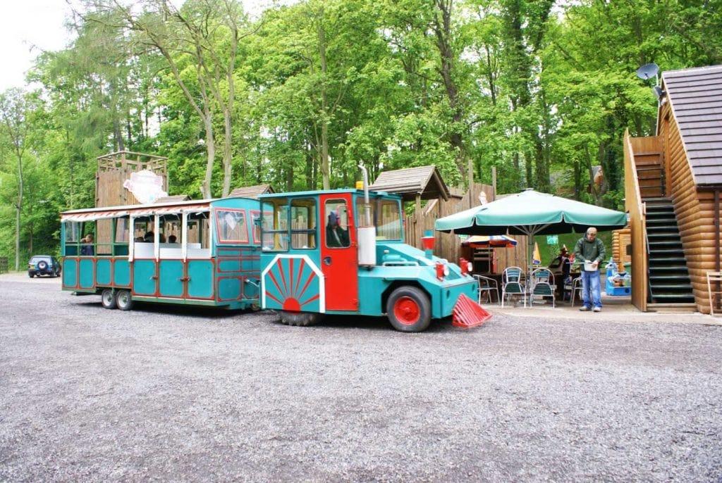 Land train at Golden Valley Caravan Park