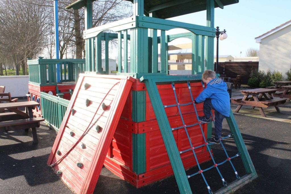Outdoor kids climbing frame at Southview Holiday Park