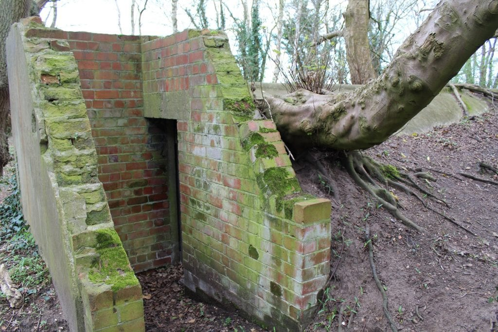 Shelters left over from WWII. Part of RAF Woodhall Spa
