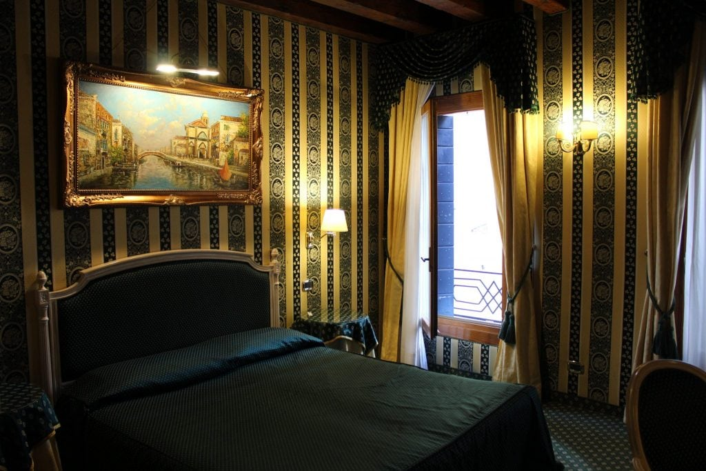 The bedroom at Relais Piazza San Marco Venice