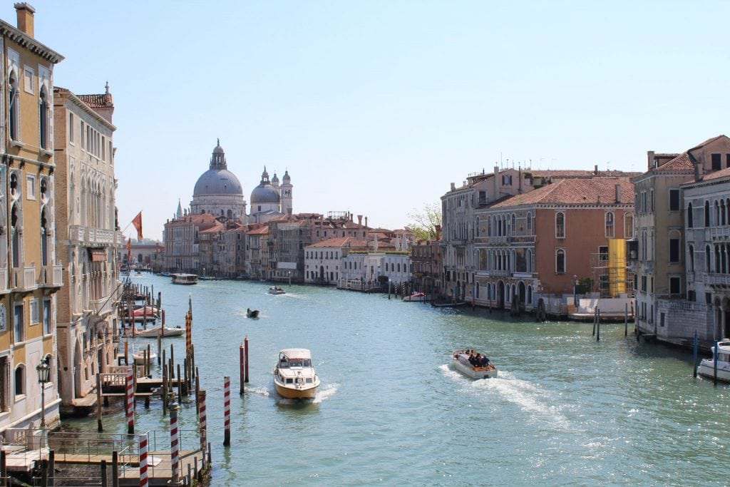View from the Accademia Bridge Venice
