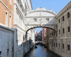 The famous Bridge of Sighs