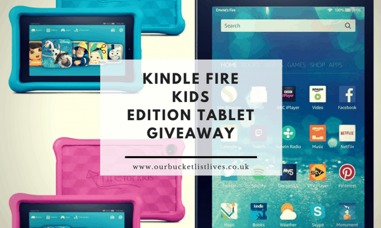Win an Amazon Fire HD 8 Tablet (8gb) PLUS a Fire Kids Edition Tablet (in pink or blue)
