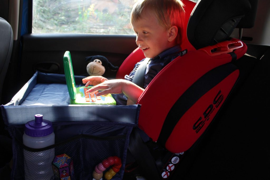 Kids snack and play tray table review and giveaway