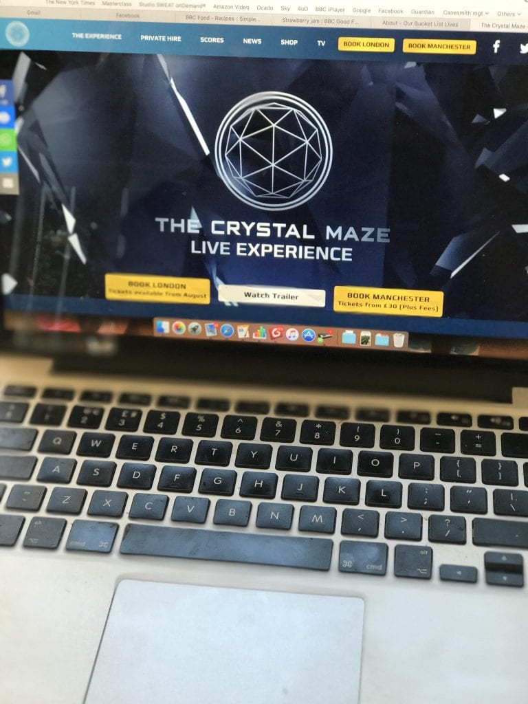 My Bucket List Day Out - Guest Post #2 - Woman In Progress - Crystal Maze