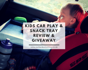 Kids Car Play and Snack Tray - Review & Giveaway
