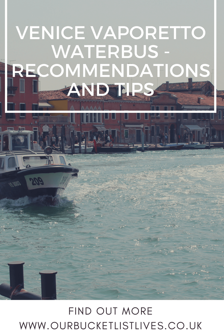 Venice Vaporetto Waterbus - Recommendations and Tips