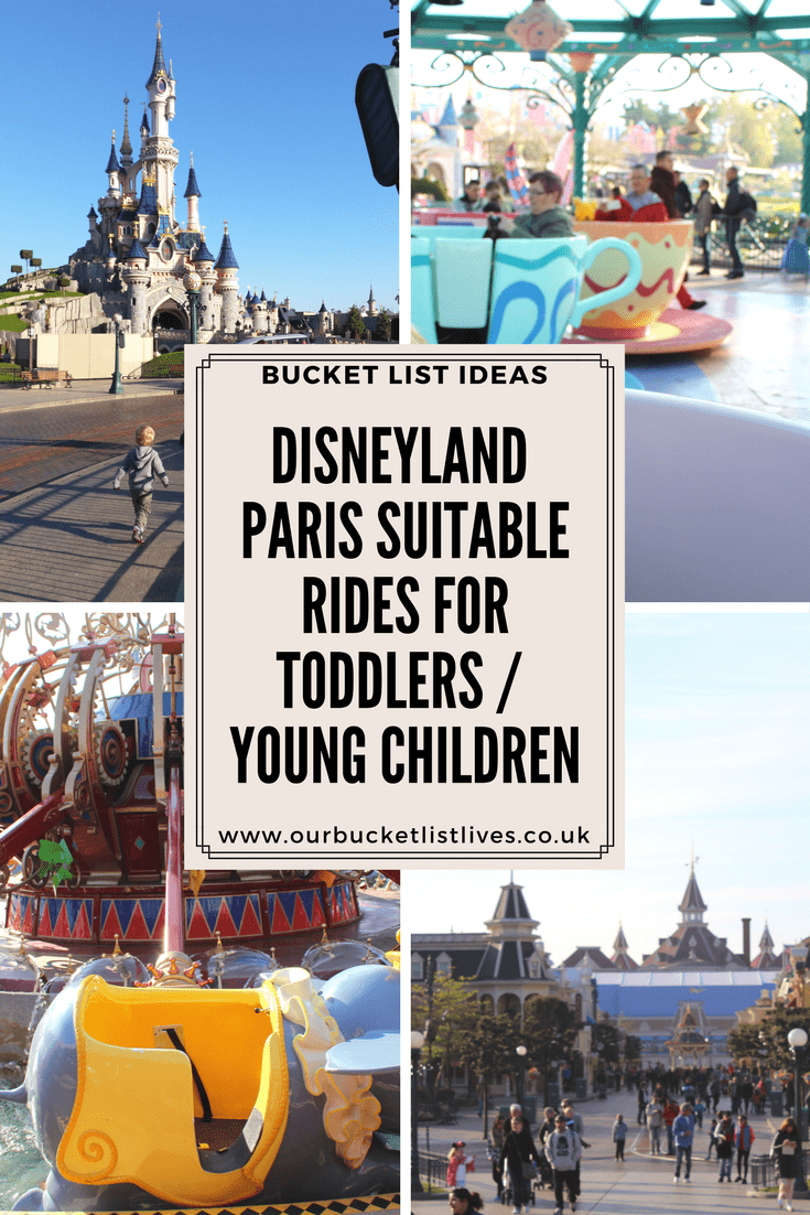 Disneyland Paris - Suitable Rides for Toddlers / Young Children