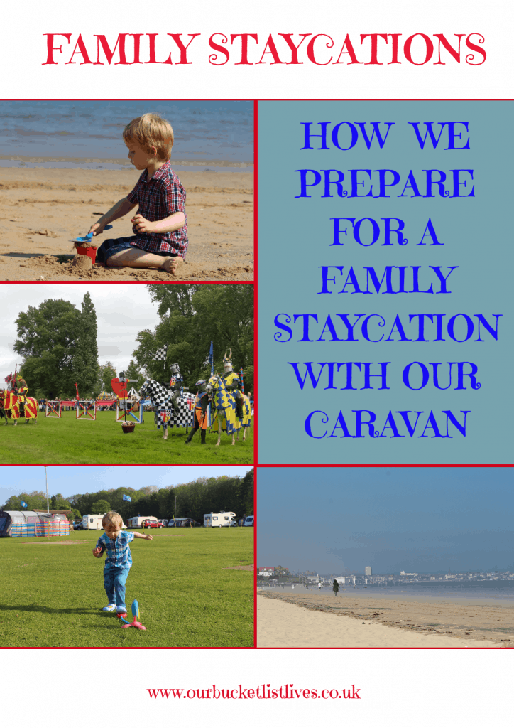 How we Prepare for a Family Staycation with our Caravan