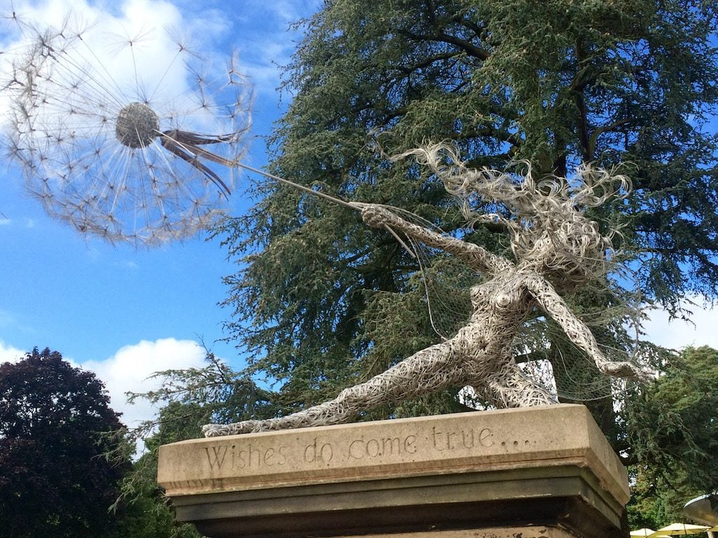 Fairy scultpure trentham gardens