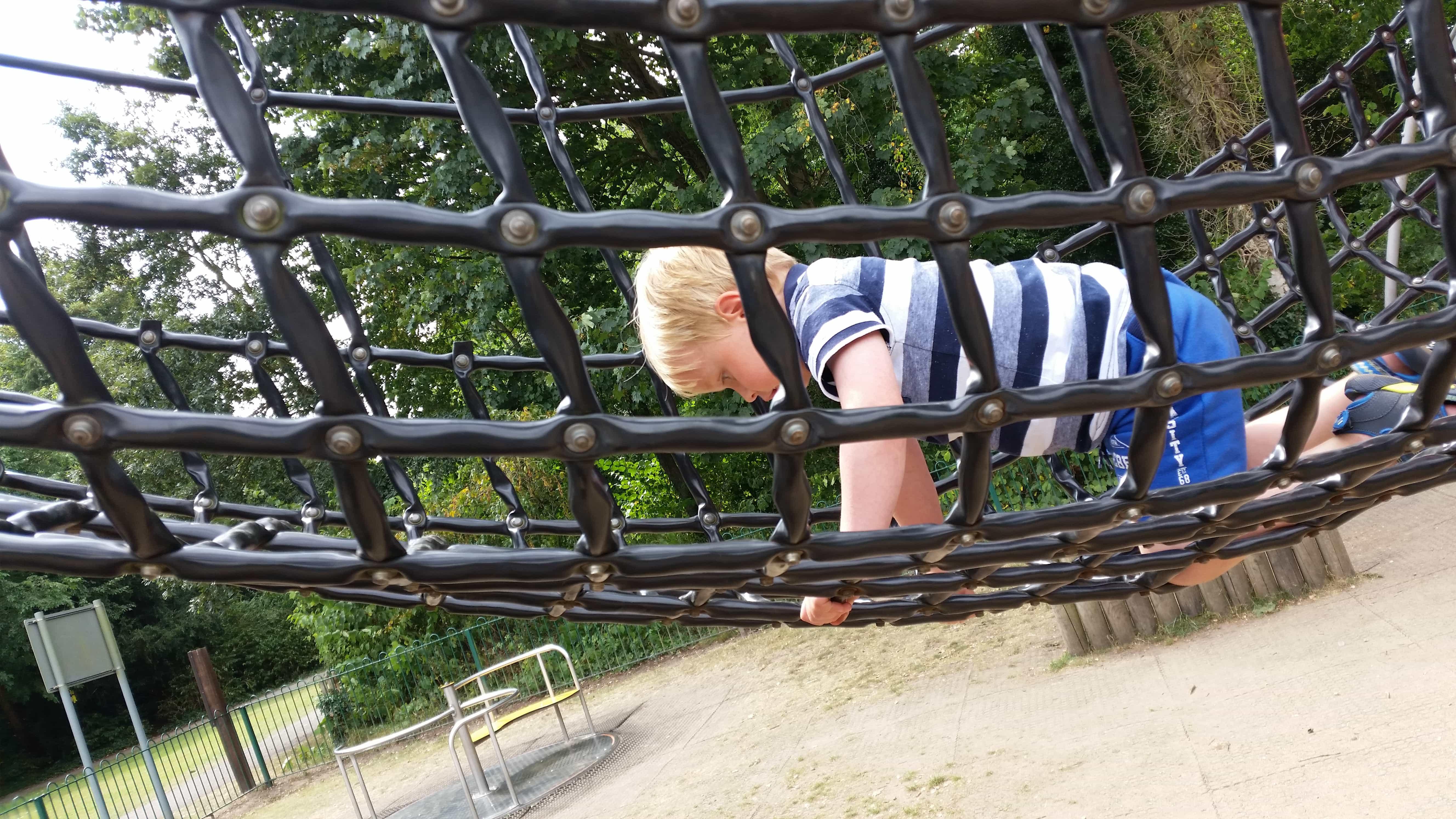 Hartsholme park has a children's play area