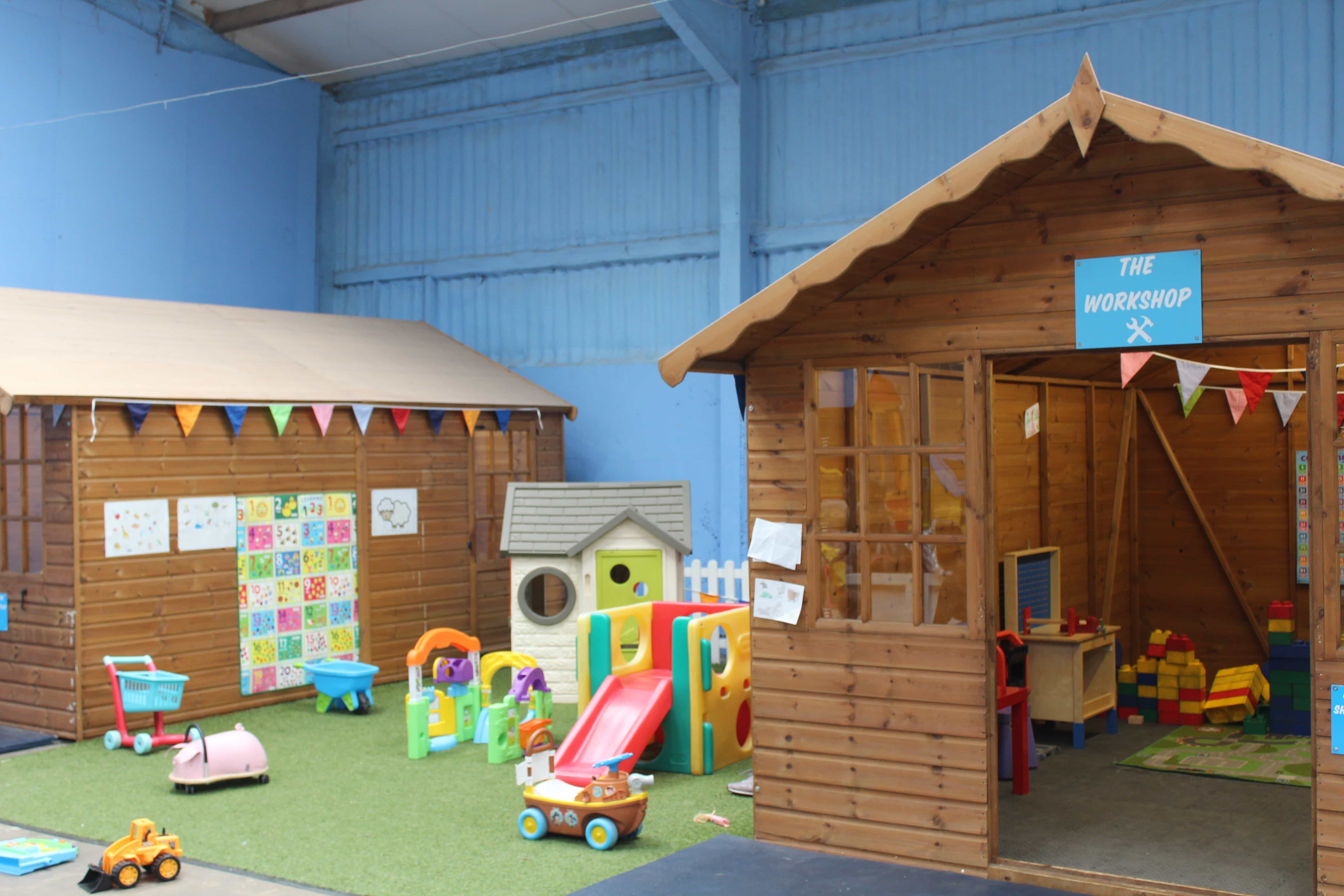 These sheds are full of toys mostly for imaginative play