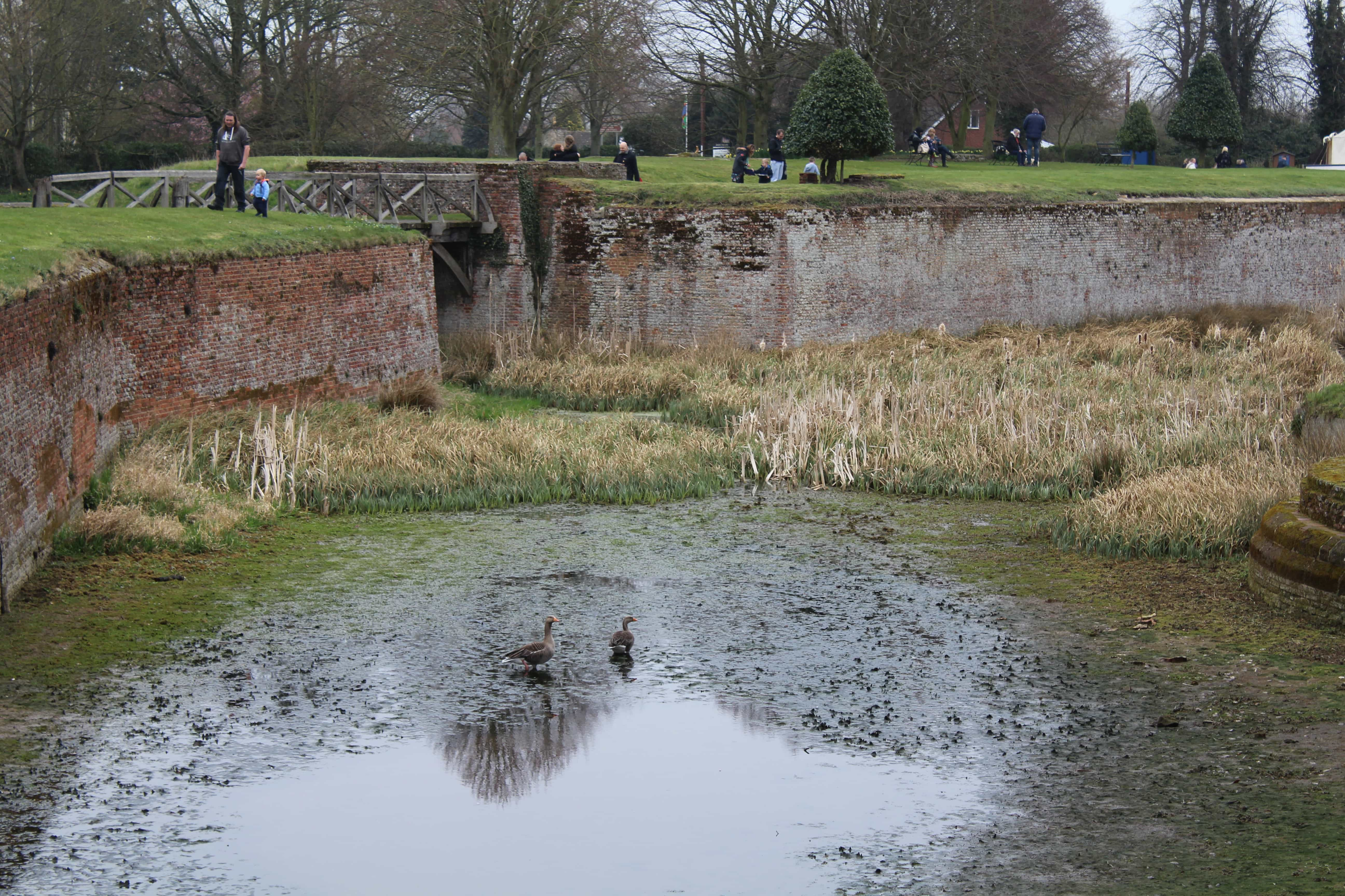 The moat at Tattershall Castle