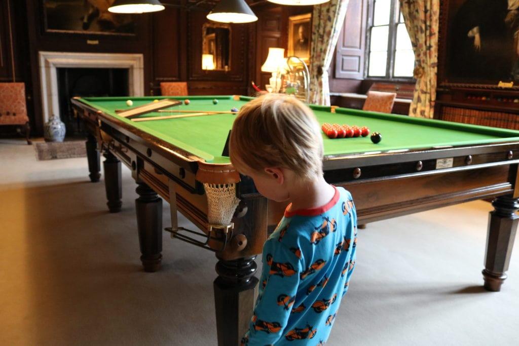The impressive Billiard room at Burghley