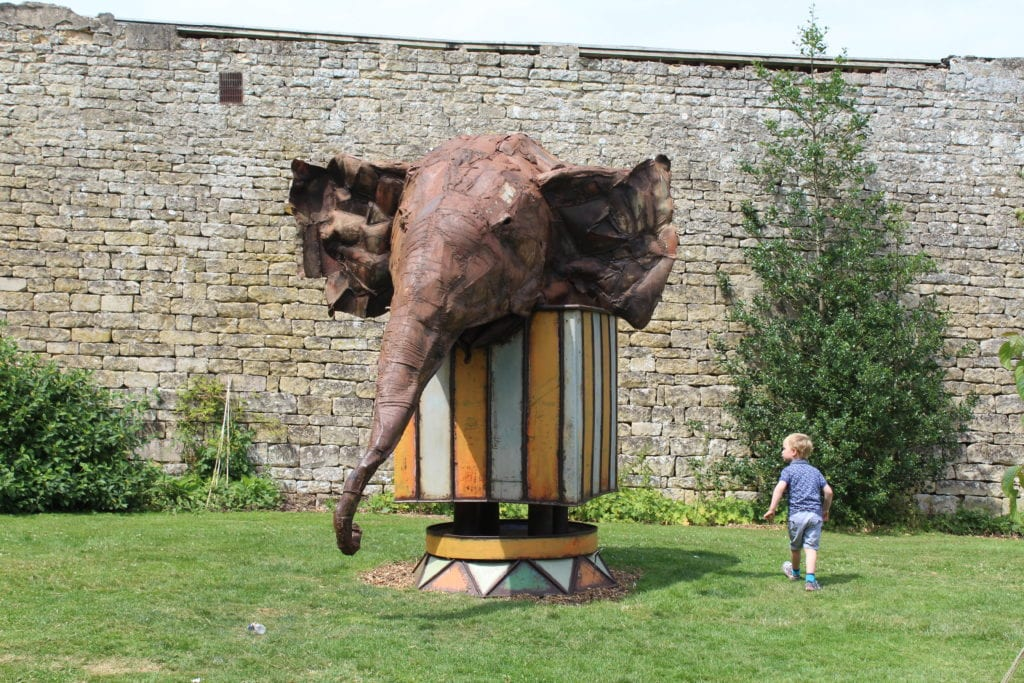 Photos from the sculpture garden at Burghley House