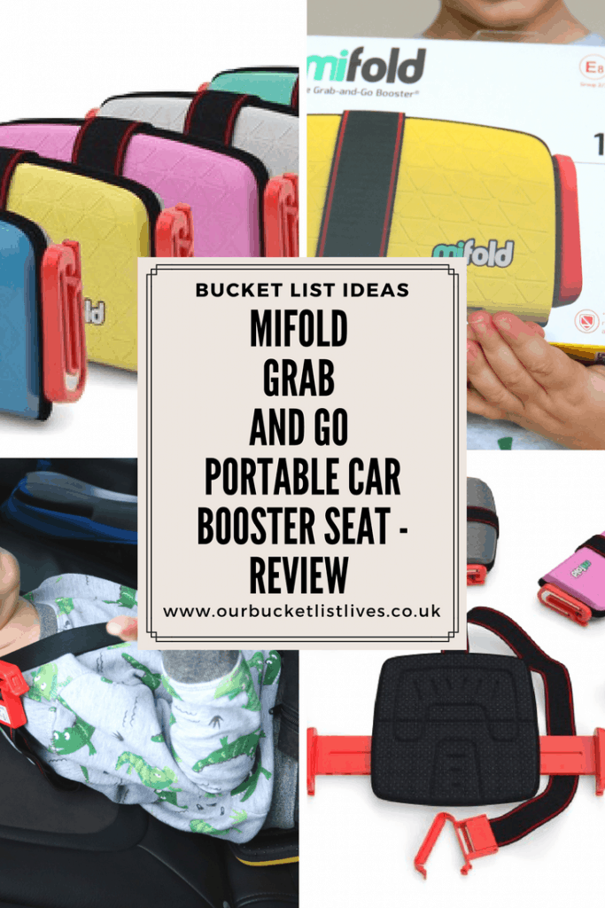 Mifold Grab and Go Portable Car Booster Seat - Review & Giveaway