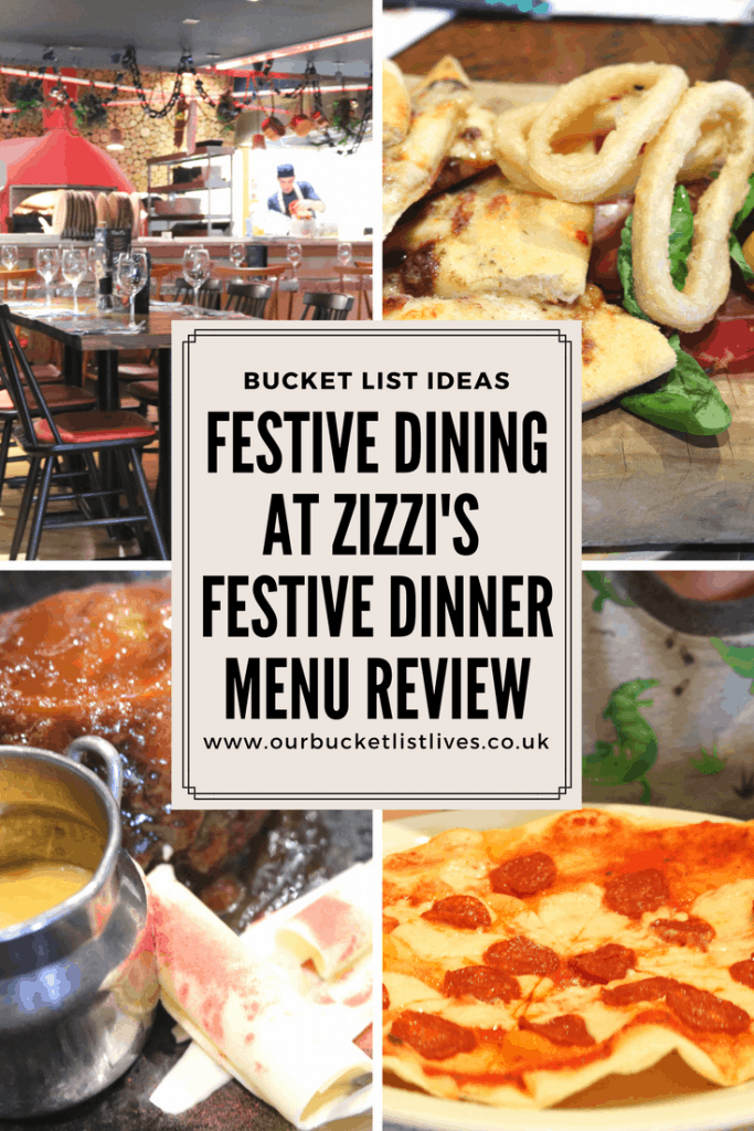 Festive Dining at Zizzi's | Festive Dinner Menu Review