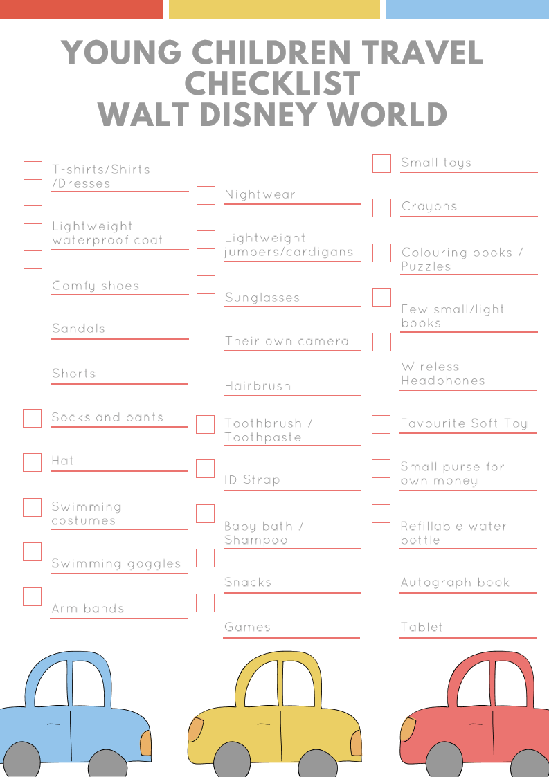 Ultimate Holiday Packing Essentials | List for Walt Disney World Florida | Young Children Age 3 to 7