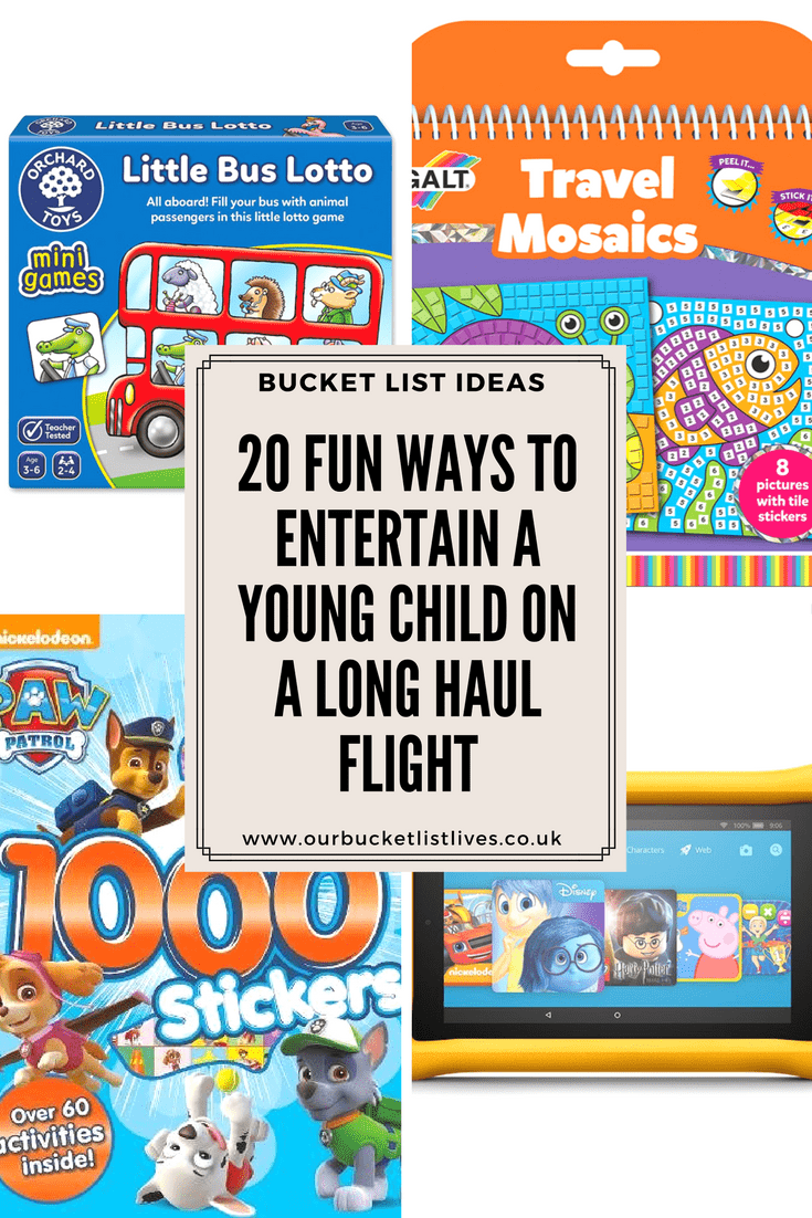 20 Fun Ways to Entertain a Young Child on a Long Haul Flight