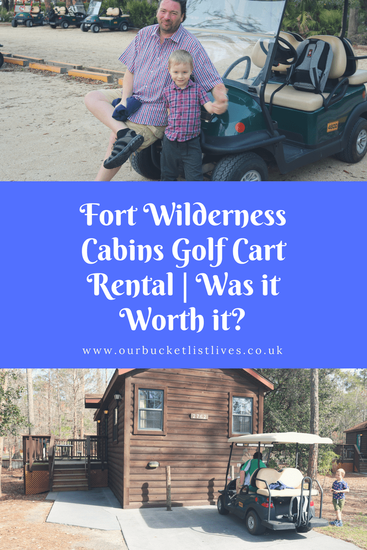 Fort Wilderness Cabins Golf Cart Rental | Was it Worth it?