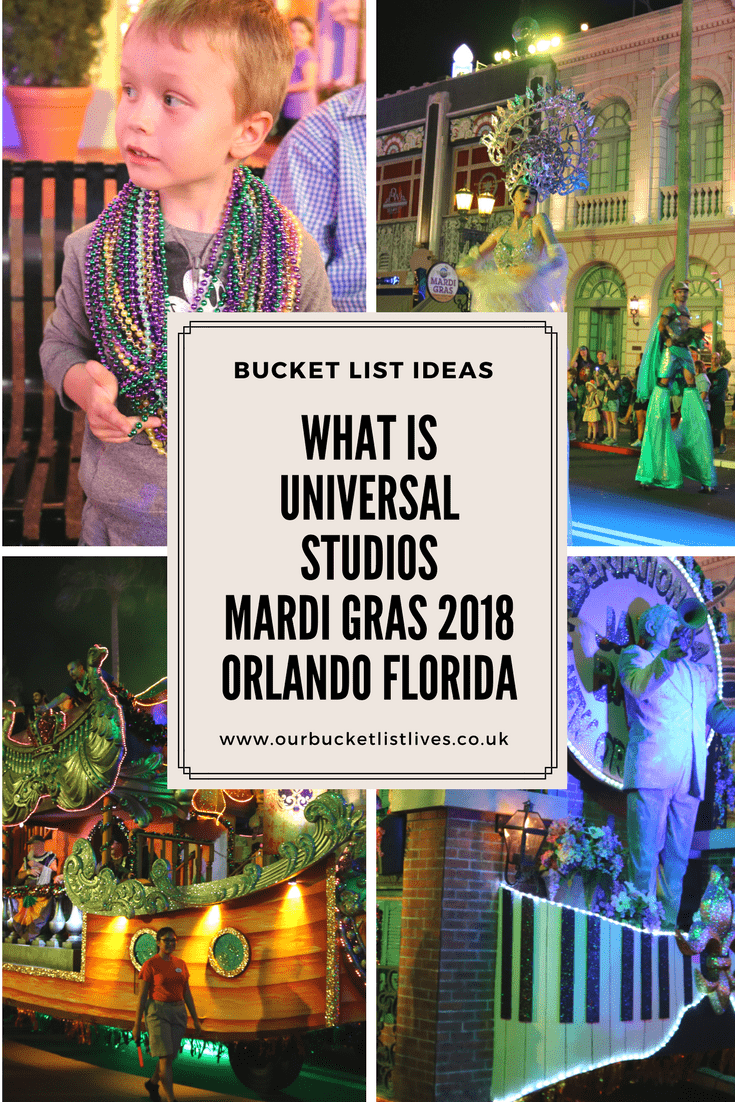 What is Universal Studios Mardi Gras 2018 Orlando Florida