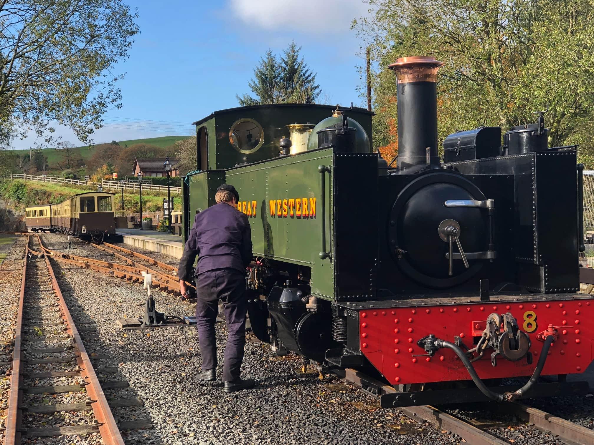 steam train in aberystwyth