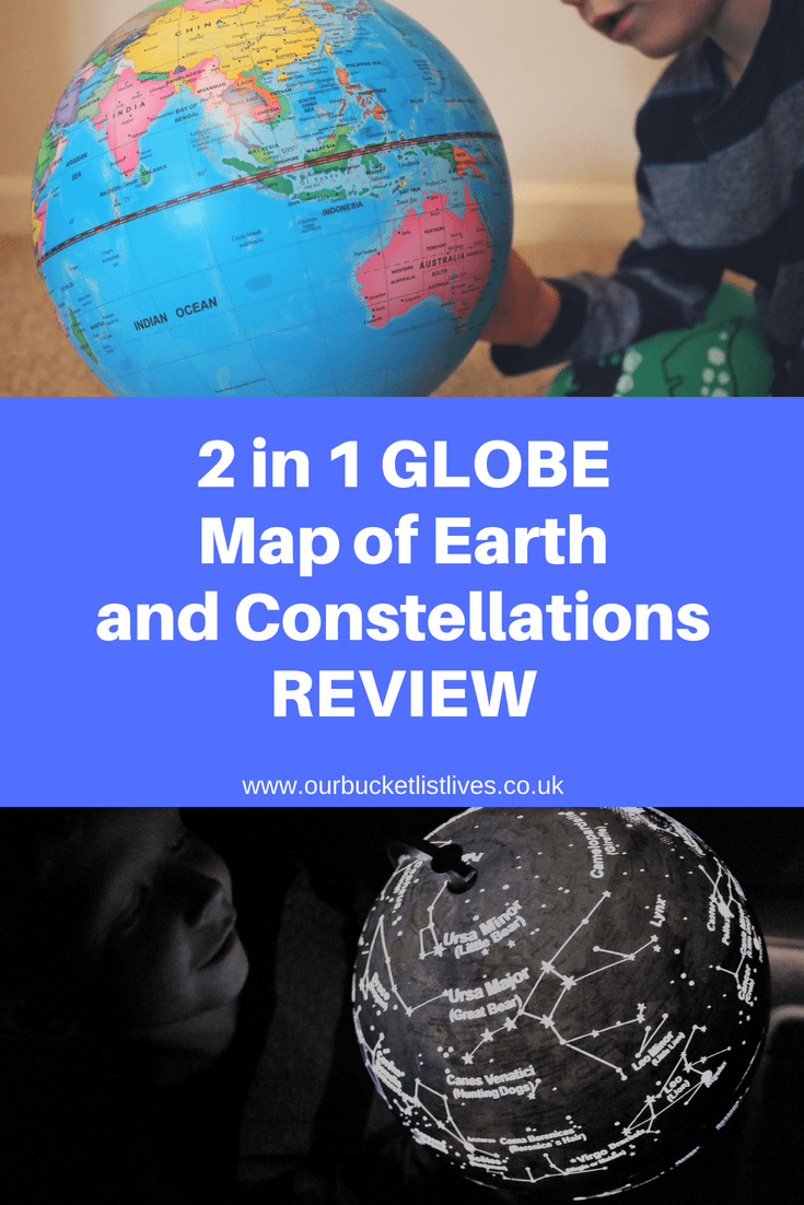 2 In 1 Globe For Kids | Review & Giveaway | Earth & Constellations