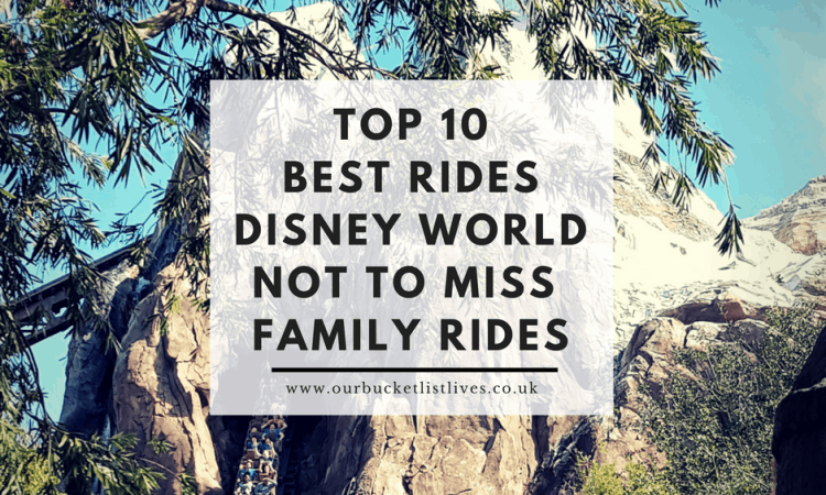 Top 10 Best Rides Disney World | Not to Miss | Family Rides