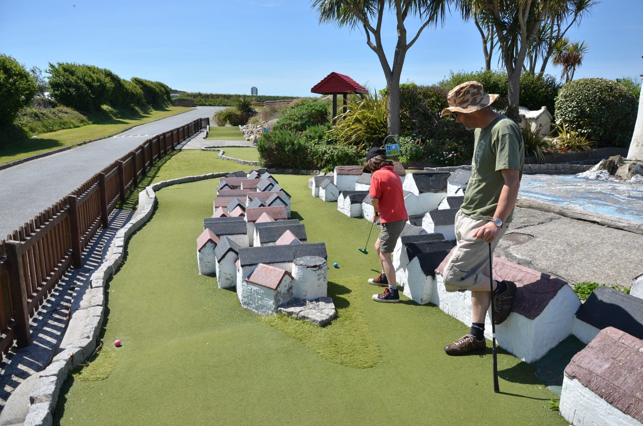 Crazy Golf at Holywell Bay Fun Park