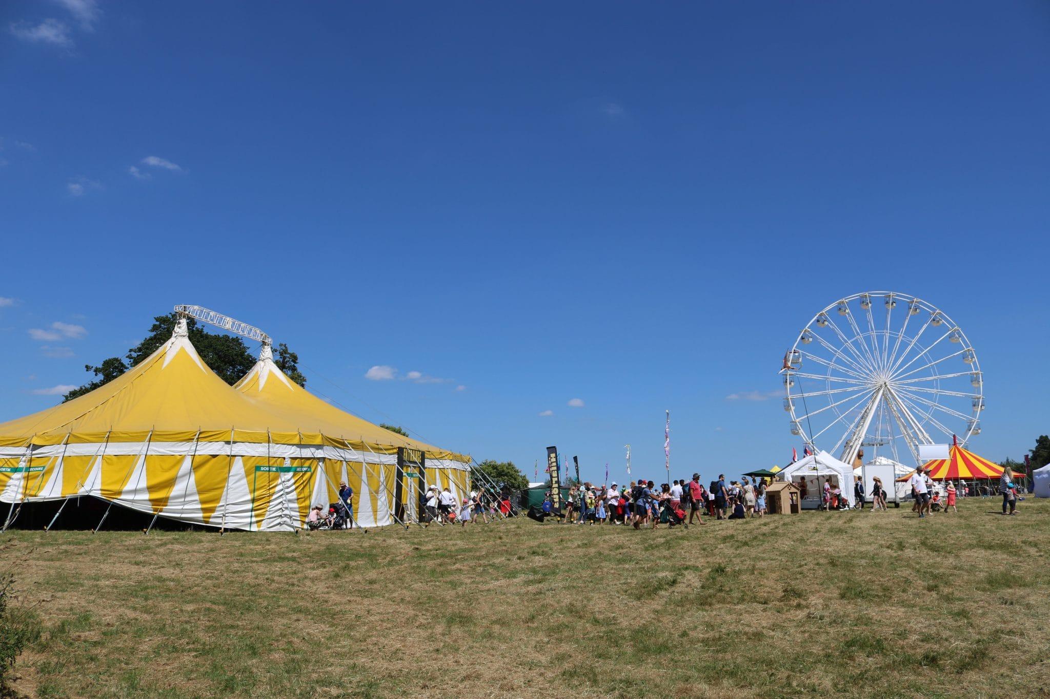 Cirque De Hilarious circus tent