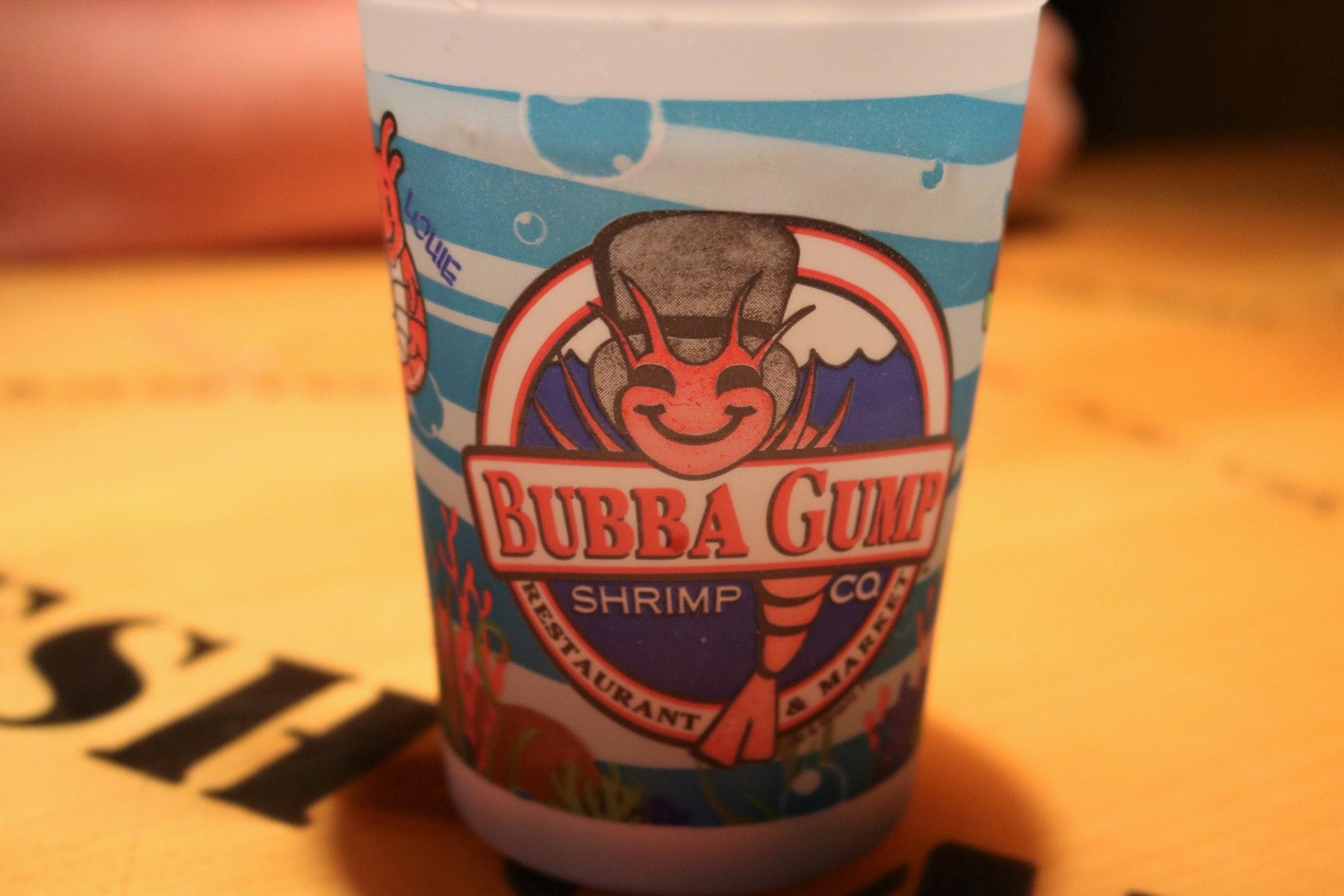 Bubba Gump cup for the kids drinks