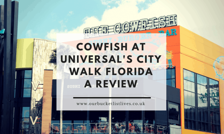 Cowfish Sushi Burger Bar at Universal's City Walk Florida | A Review
