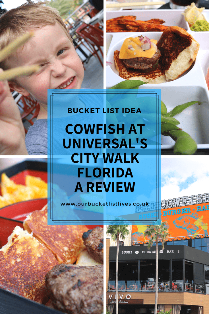 Cowfish Sushi Burger Bar at Universal's City Walk Florida | A Review