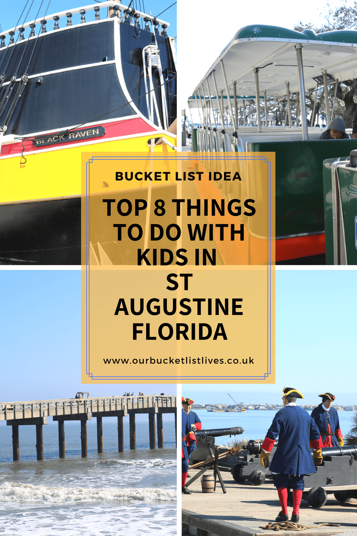 Top 8 Things To Do With Kids in St Augustine Florida
