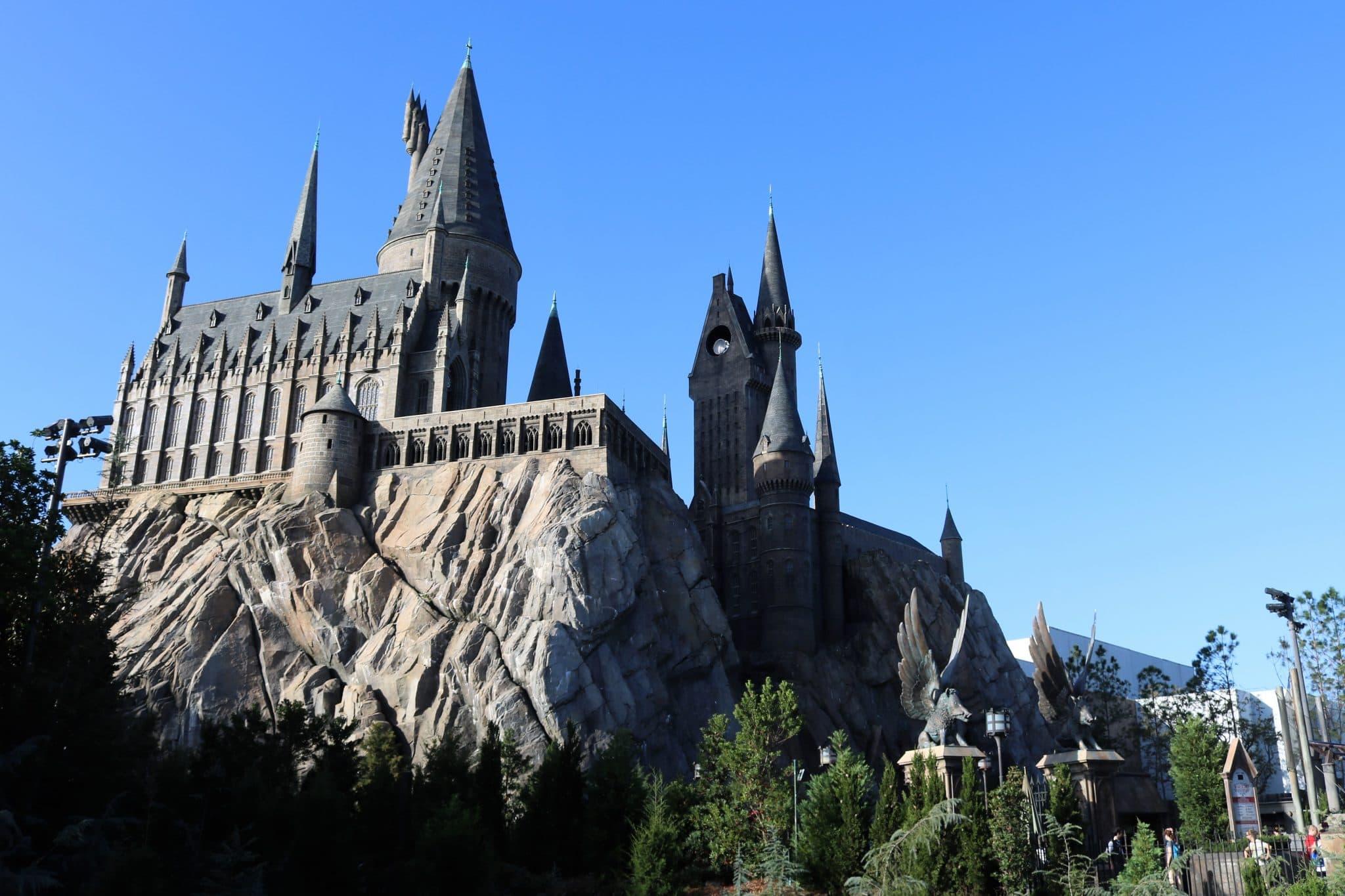 The stunning Hogwart's castle