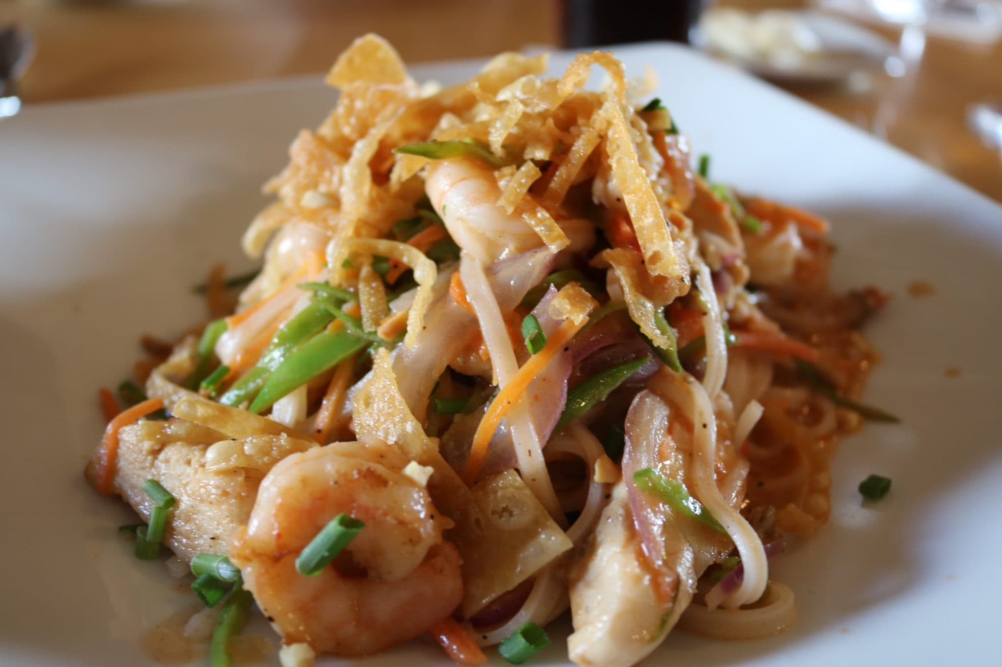 Delicious Pad Thai at Mythos restaurant