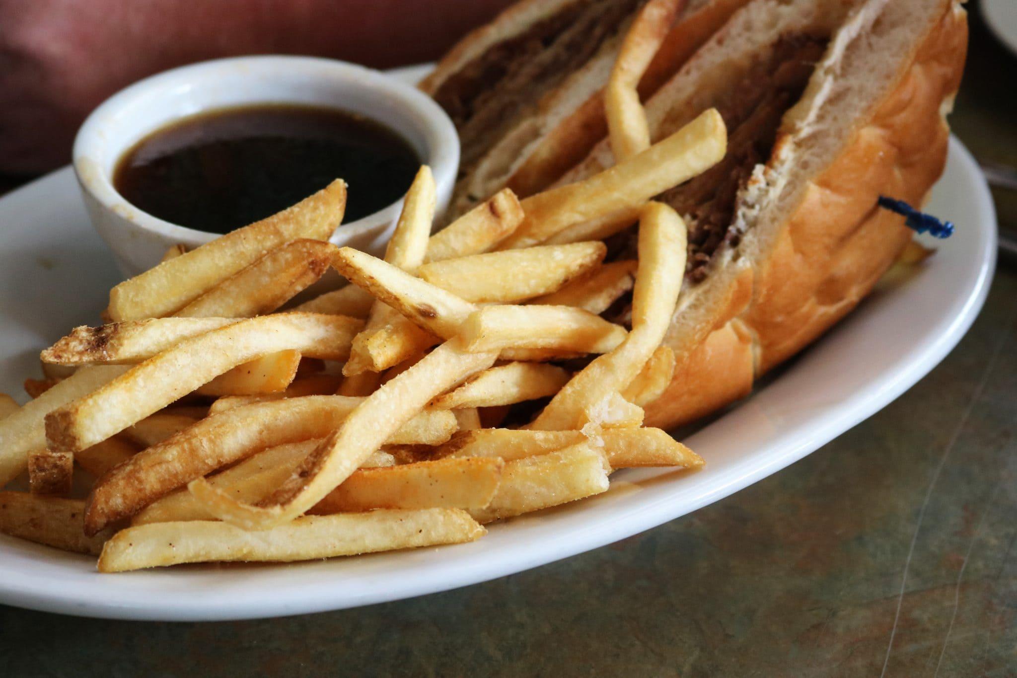Roast Beef Dip sandwich