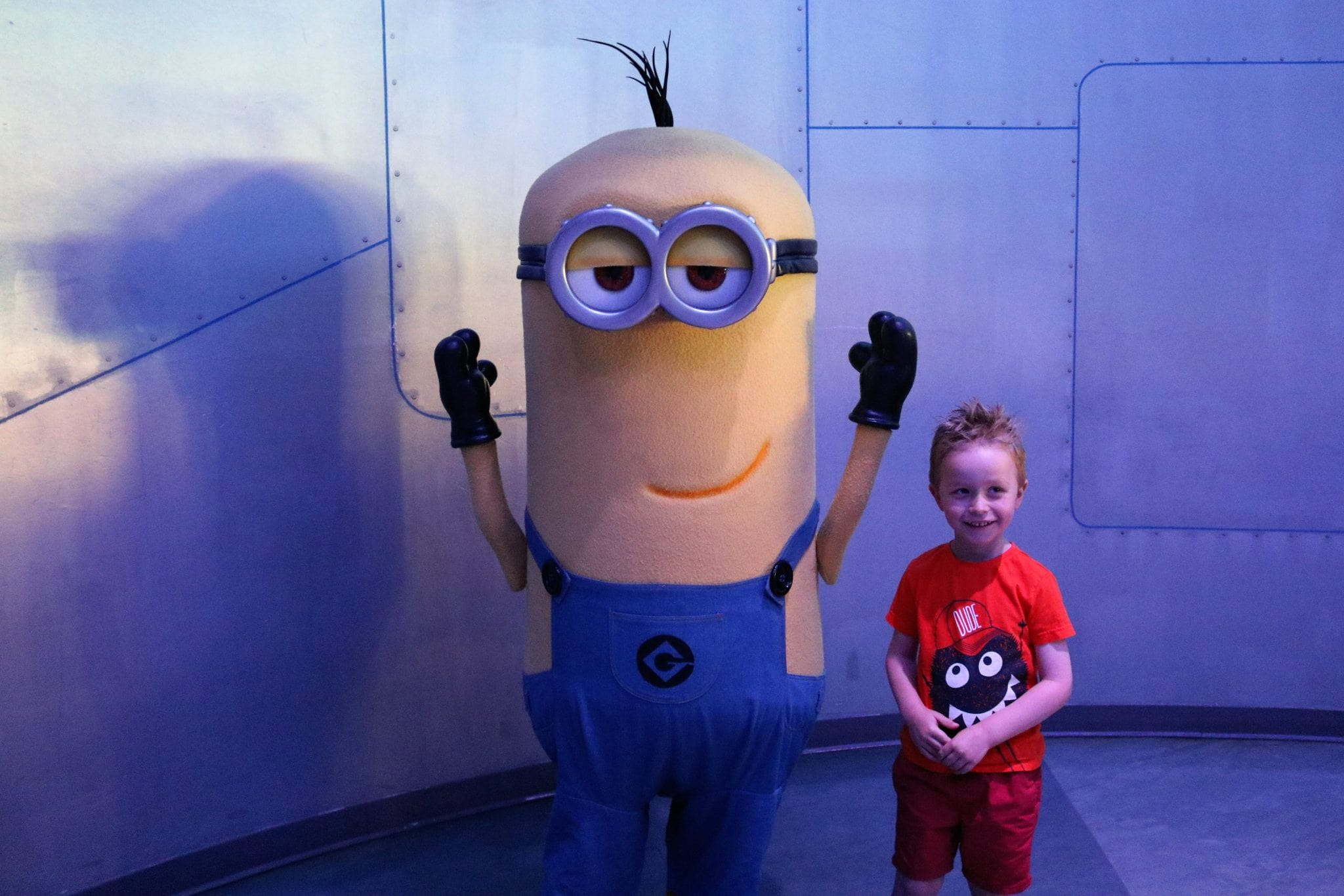 Meeting Kevin at Despicable me Minion Mayhem