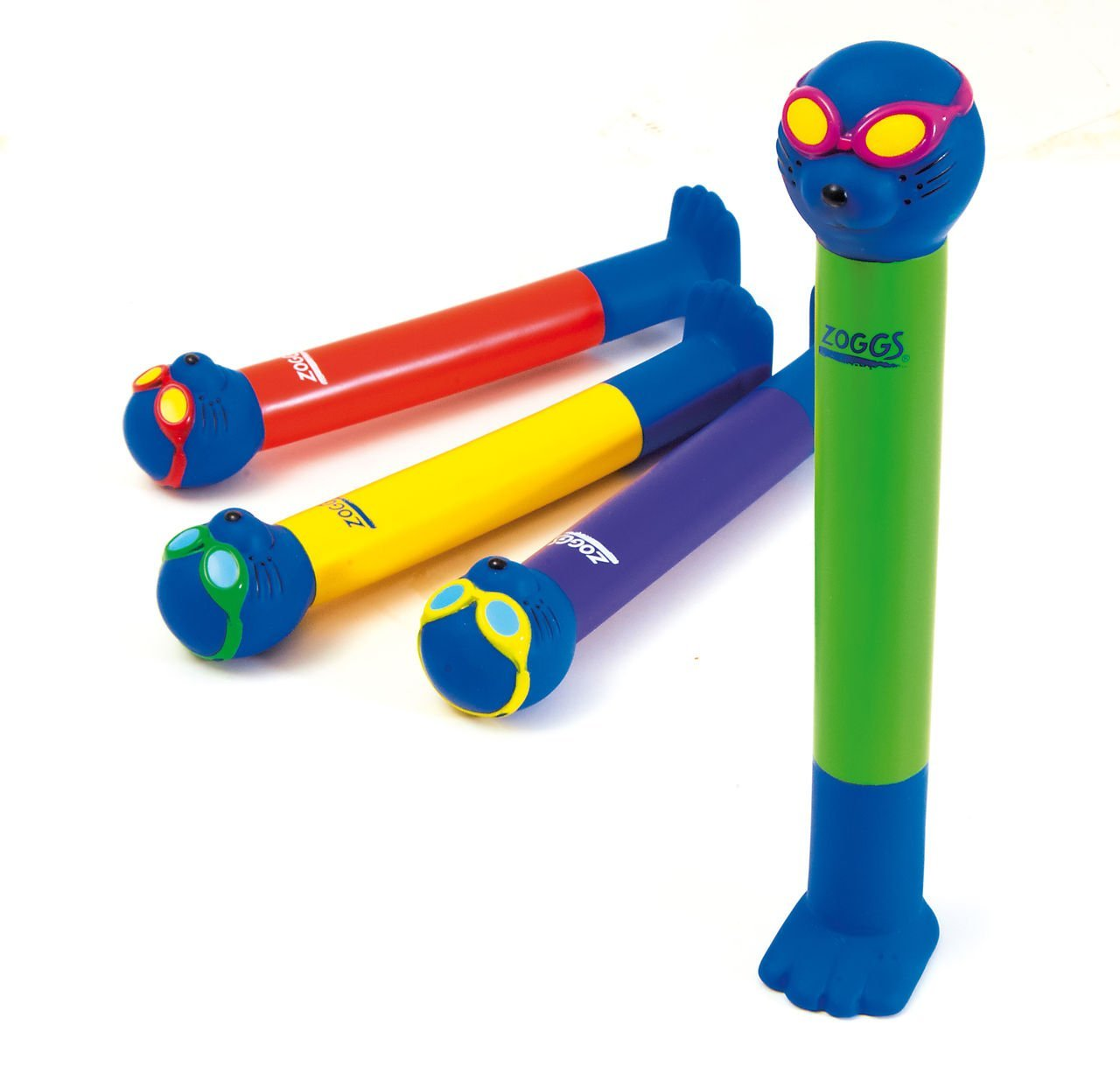 Zoggs Children's Safe Water Toy Dive Sticks in Bright Colours, Above 3 Year
