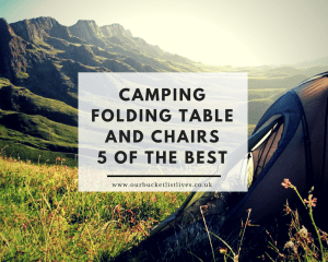 Camping Folding Table and Chairs - 5 of the Best