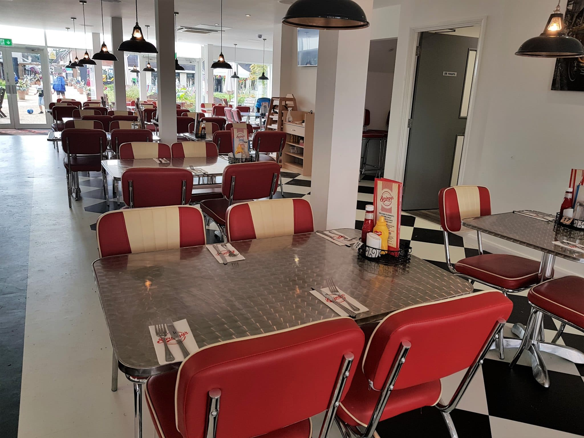 Inside Springy's American Diner