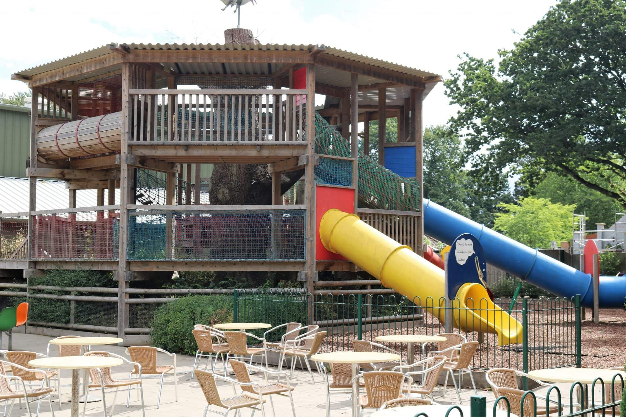 The large outdoor play area at Dinomite