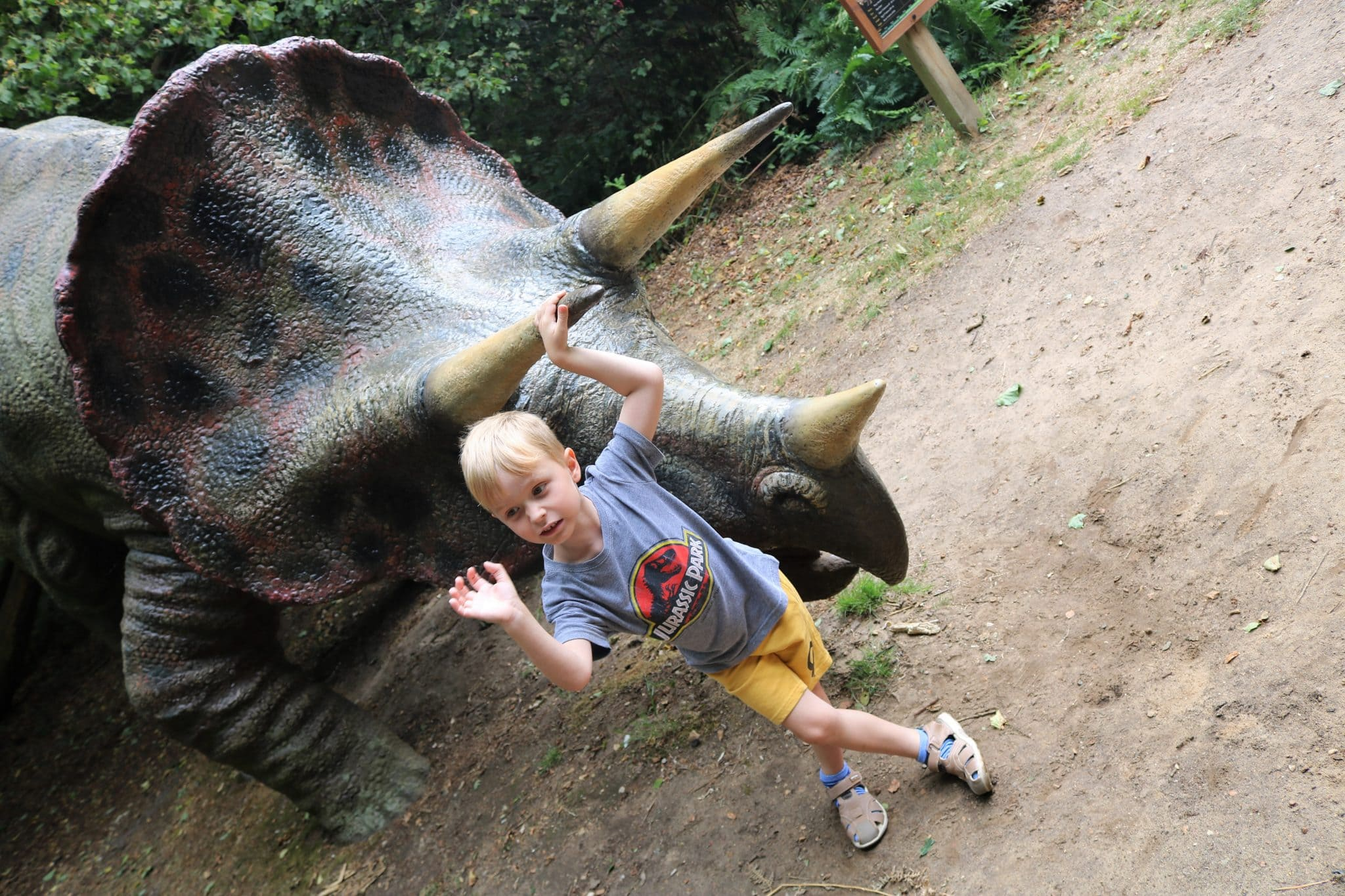 You can touch many of the dinosaurs on display and there's many opportunities for selfies