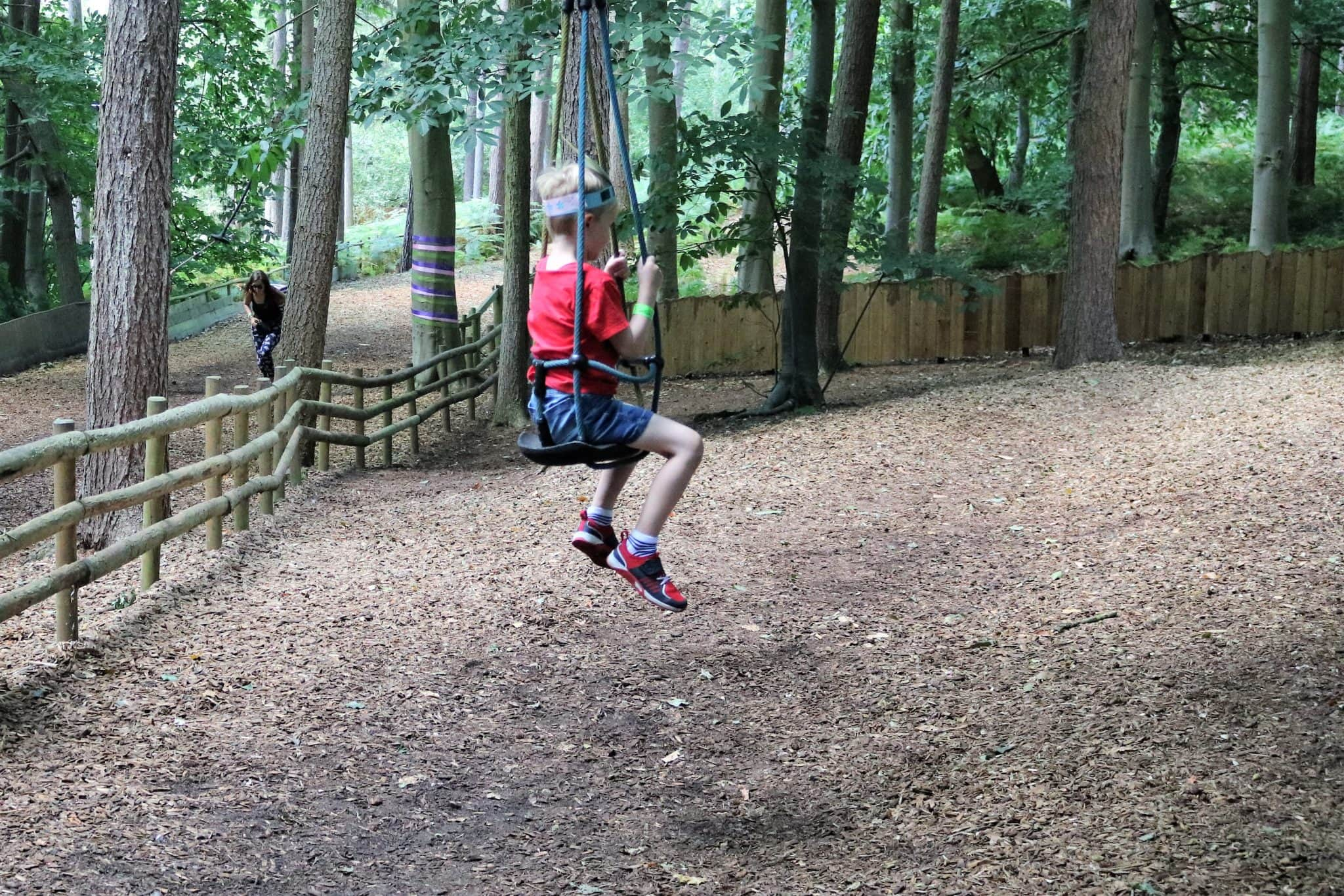 Zip wire for smaller children