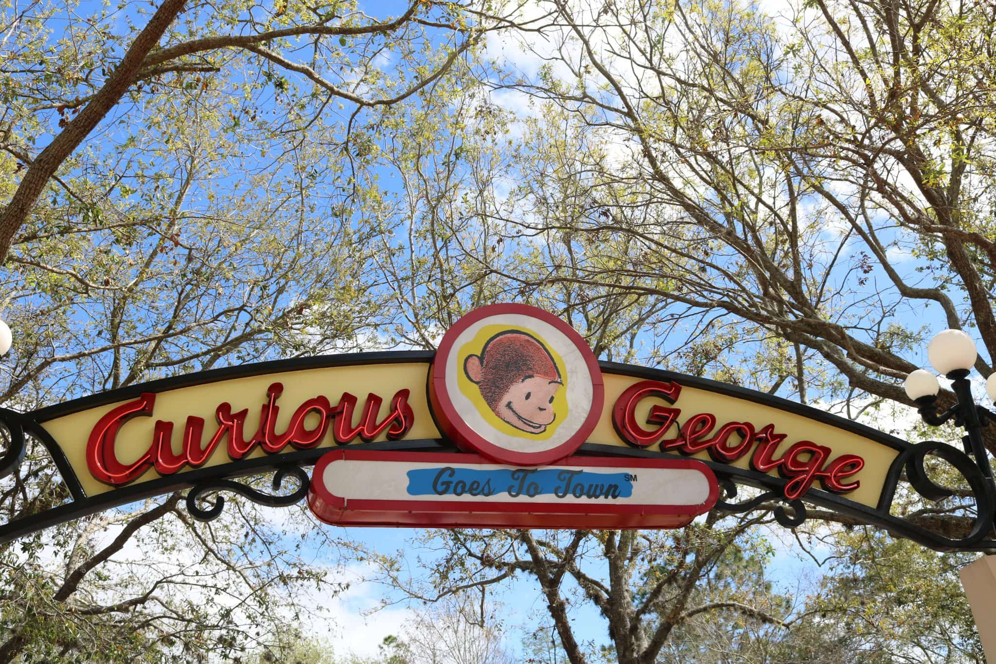 Curious George goes to town